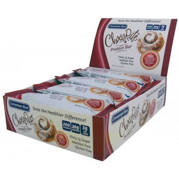 Picture of Chocorite Protein Bar ( 64g) - Cinnamon Bun Box of 12 Bars