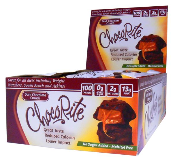 Picture of Chocorite Bar - Dark Chocolate Crunch Box of 16 Bars