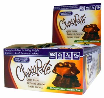 Picture of Chocorite Bar  - Dark chocolate Pecan Cluster Box of 16 Bars