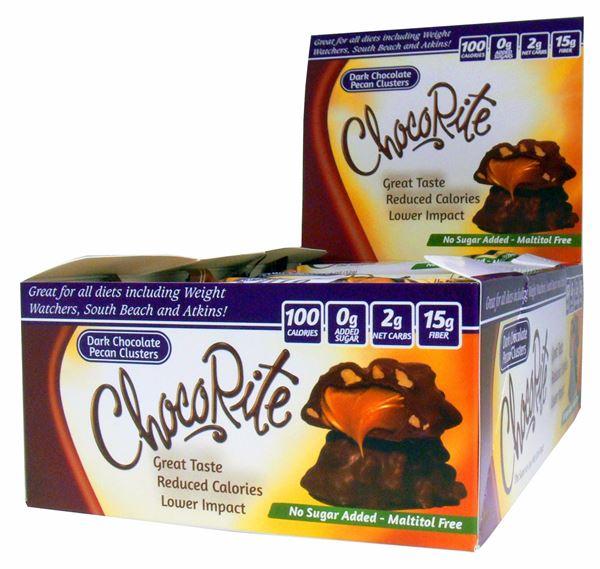 Picture of Chocorite Bar  - Dark chocolate Pecan Cluster Box of 16 Bars