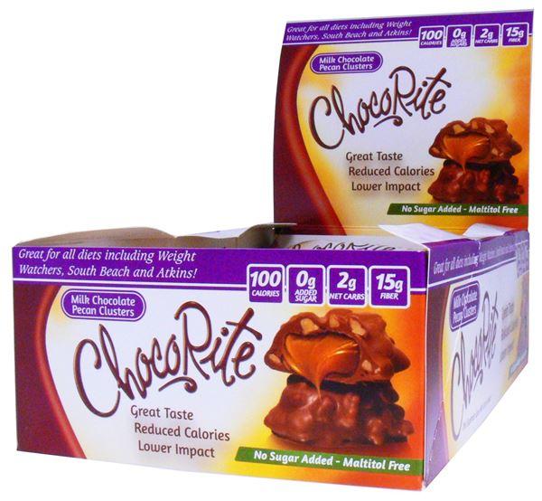 Picture of Chocorite Bar  - Milk Chocolate Pecan Cluster Box of 16 Bars
