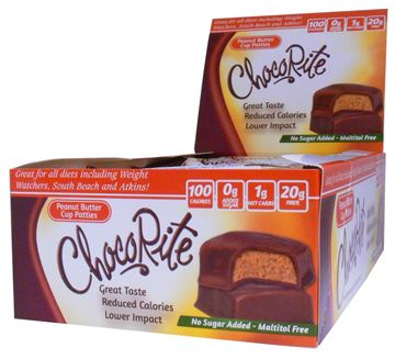 Picture of Chocorite Bar  - Peanut Butter Cup Patties Box of 16 Bars