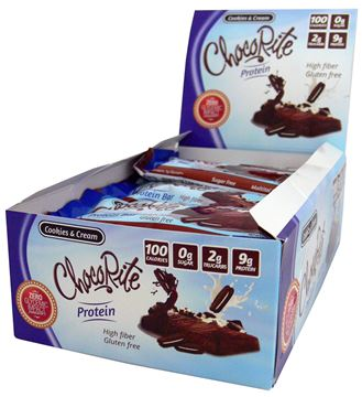 Picture of Chocorite protein Bar  - Cookies & Cream box of 16 Bars
