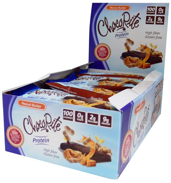 Picture of Chocorite protein Bar ( 34g) - Peanut Butter Box of 16 Bars