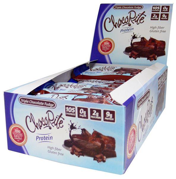 Picture of Chocorite Protein Bar ( 34g)- Triple Chocolate Fudge  Box of 16 Bars