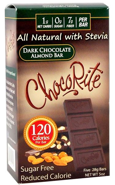 Picture of Chocorite Bar (Five 28g ) - Dark Chocolate Almond