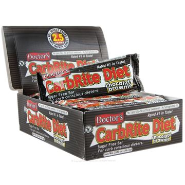 Picture of Doctor's CarbRite Diet - Chocolate Brownie Box of 12 Bars