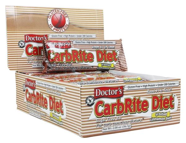 Picture of Doctor's CarbRite Diet - Frosted Cinnamon Bun box of 12 Bars