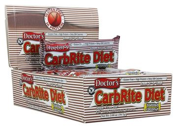 Picture of Doctor's CarbRite Diet - Toasted Coconut Box of 12 Bars