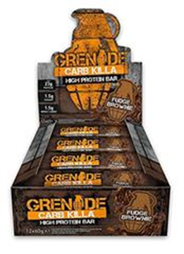 Picture of Grenade carb killa protein bar - Fudge Brownie Box of 12 Bars