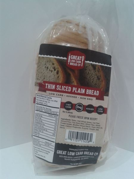 Picture of Great Low Carb Bread - Thin Sliced Plain Bread