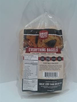 Picture of Great Low Carb Bagel - Everything Bagel