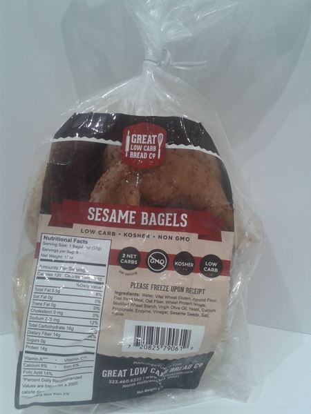 Picture of Great Low Carb Bagel - Seasame
