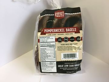 Picture of Great low carb bagel - Pumpernickel
