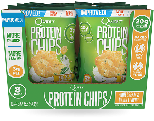 Picture of Quest Protein Chips - Sour cream & Onion flavour - Box Of 8