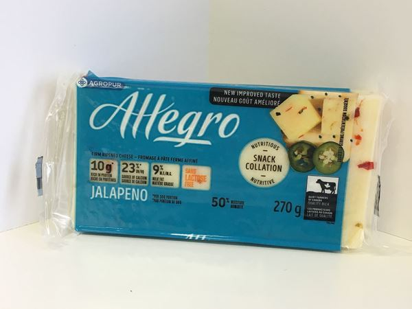 Picture of Allegro cheese - Jalapeno ( 270g ) 9 % M.F.