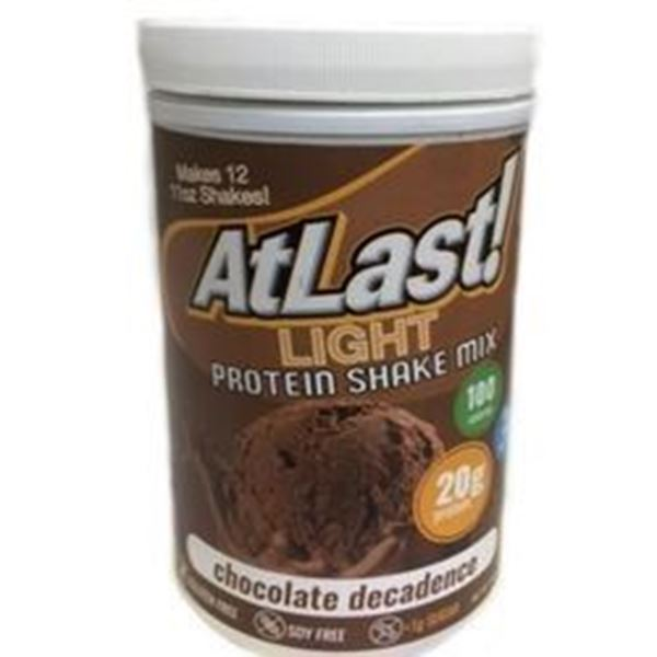 Picture of AtLast light Protein Shake mix - Chocolate Decadence