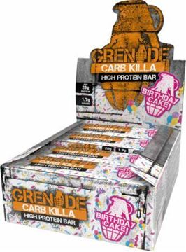 Picture of Grenade carb killa Protein Bar - Birthday Cake Box of 12 Bars