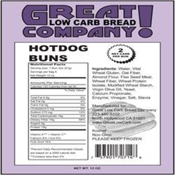 Picture of Great Low Carb -Hot Dog Buns