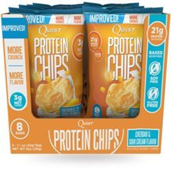 Picture of Quest Protein Chips - Cheddar & Sour Cream  Box Of 8