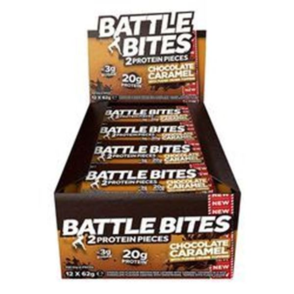 Picture of Battle Bites Protein Bar : Chocolate Caramel  Box of 12