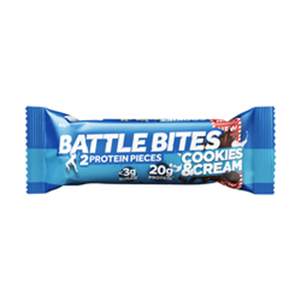 Picture of Battle Bites Protein Bar : Cookies & Cream