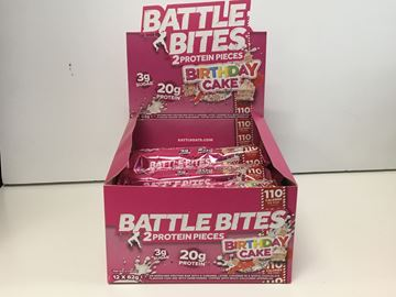 Picture of Battle Bites Protein Bar : Birthday Cake  Box Of 12