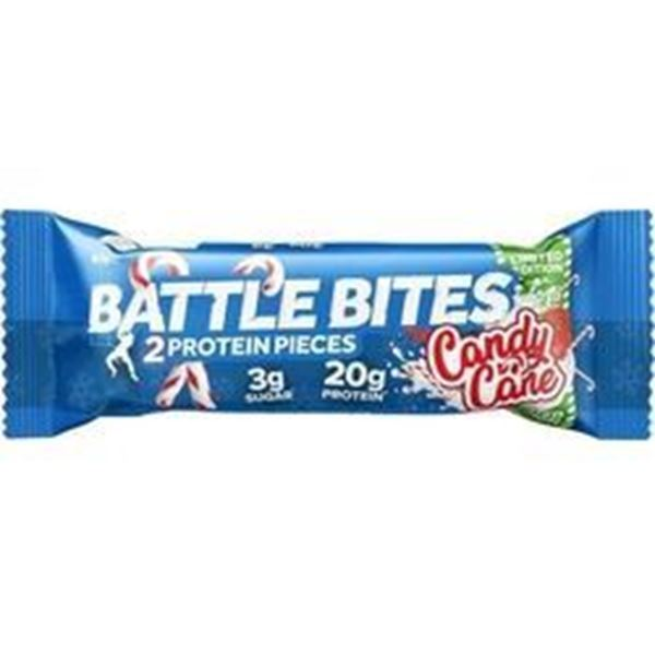 Picture of Battle Bites Protein Bar : Candy Cane
