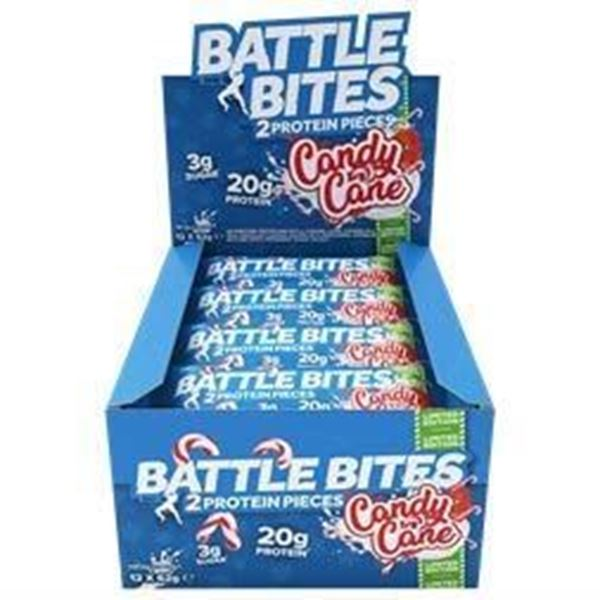 Picture of Battle Bites Protein Bar : Candy Cane  Box Of 12