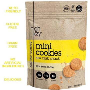 Picture of High Key Low Carb Mini Cookies Snickerdoodle 56.6g