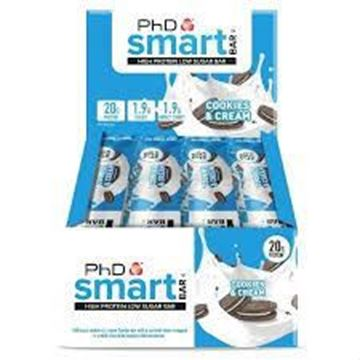 Picture of PhD Performance Nutrition Smart Bar Cookes & Cream(Box of 12 Bars)
